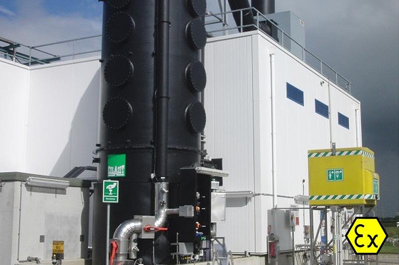 Kunststof gaswassers, luchtreiniging en striptorens
